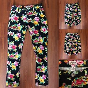 MUDD Vibrant Floral Jeans Size 9